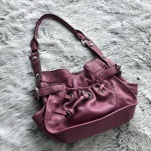 B. Makowsky pink leather shoulder bag